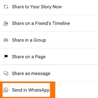 Cara Membagikan Video dari Facebook ke Story Whatsapp