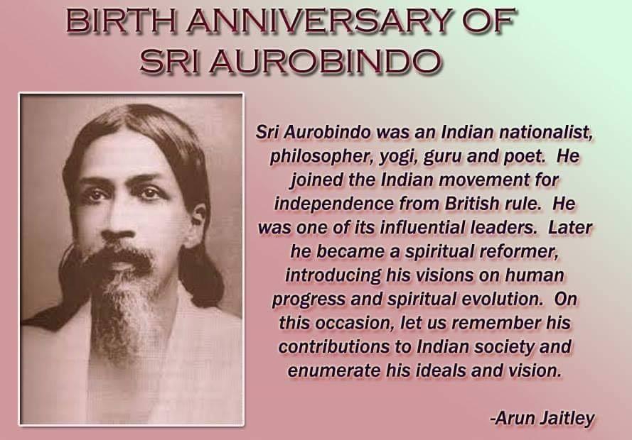 Aurobindo's Birth Anniversary