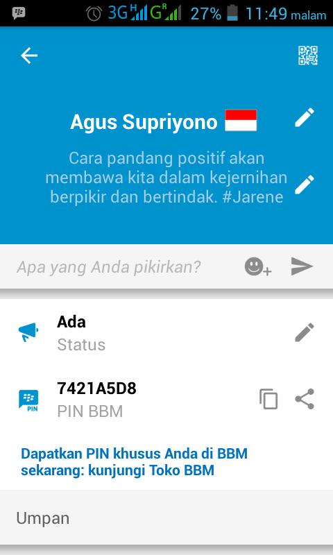 Cara Share Pin bbm