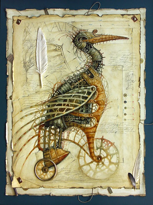 19-Vladimir-Gvozdev-Surreal-Steampunk-Animal-Drawings-www-designstack-co