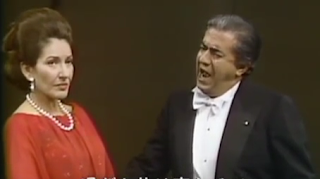 Maria Callas and Giuseppe Di Stefano on stage in Tokyo, at around the time they had a brief affair