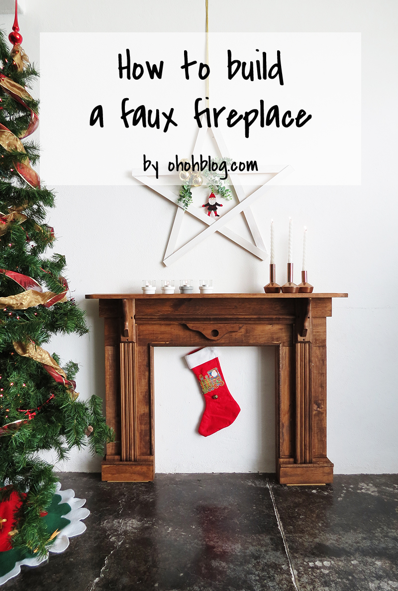 diy faux fireplace ohoh blog