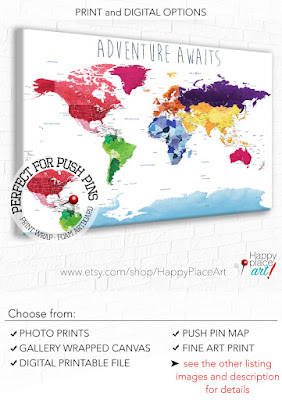 Educational World Map from Happy Place Art