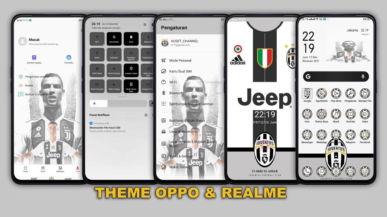 Download Tema Juventus Terbaru untuk Android OPPO All Versi