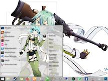 [Theme Win 8.1]  Sword Art Online II - Asada Sinon by Eldiaz7