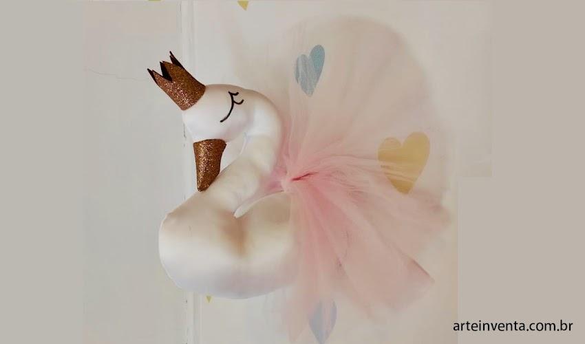 Cisne Princesa Bailarina parede com moldes