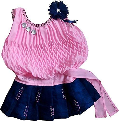 SNS Girls' Dress (Ba200146_Pink_3-6 Months)