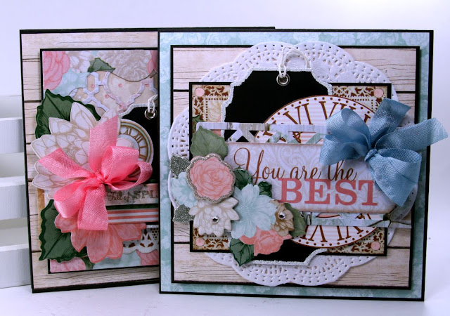 Chalkboard Tag Greeting Cards by Ginny Nemchak using BoBunny Felicity