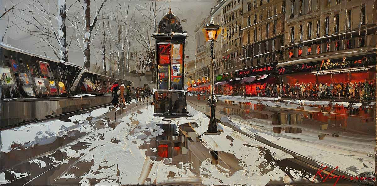 10-Quai-Malaquais-Kal-Gajoum-Paintings-of-Dream-Like Cities-of-the-World-www-designstack-co