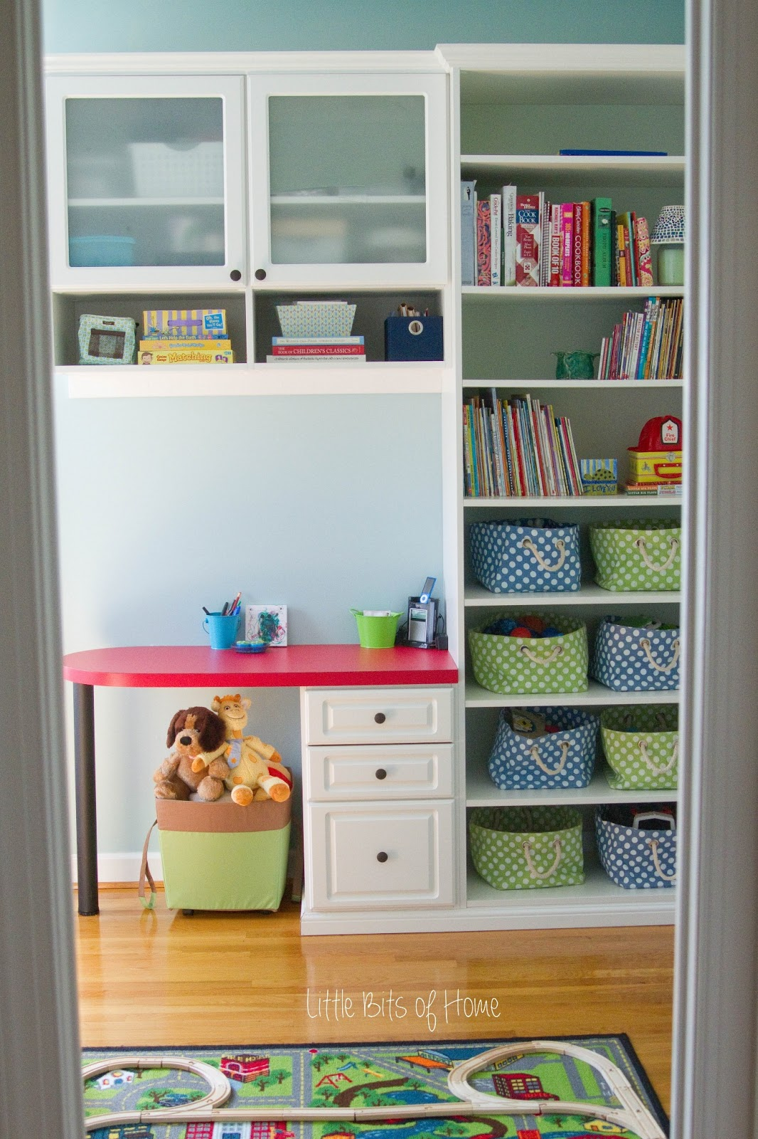 Colorful Playroom with Storage #kids #playroom #kidspace #color