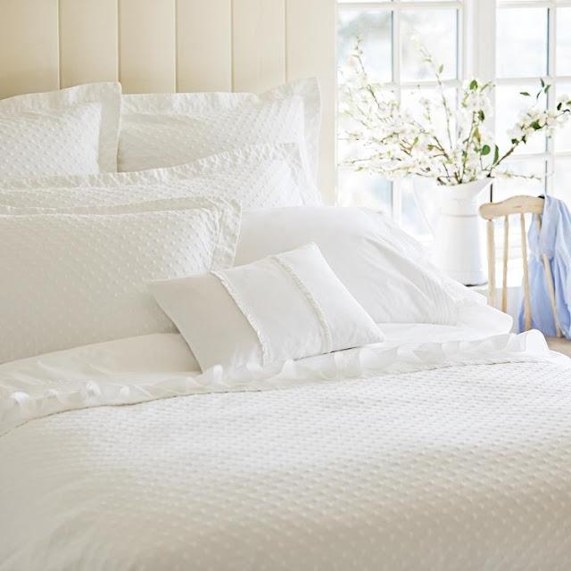 Taylor Linens Matelasse white bedding