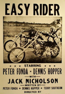 easy rider poster black white