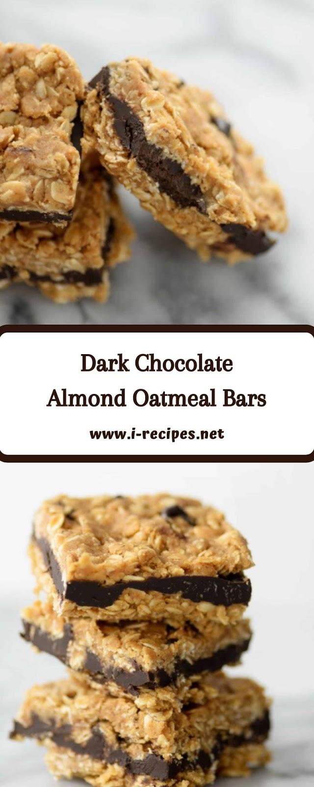 Dark Chocolate Almond Oatmeal Bars