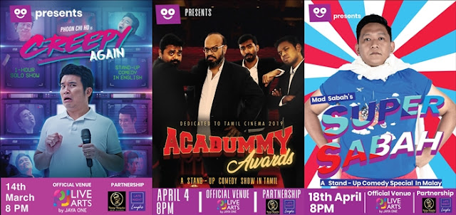 Late Night Laughs, The Square by Jaya One, Stand-up comedian, stand-up comedy, Super Sabah, Acadummy Awards by India's best-established quartet Praveen Kumar, Jagan Krishnan, Mervyn Rozario, Manoj Prabakar