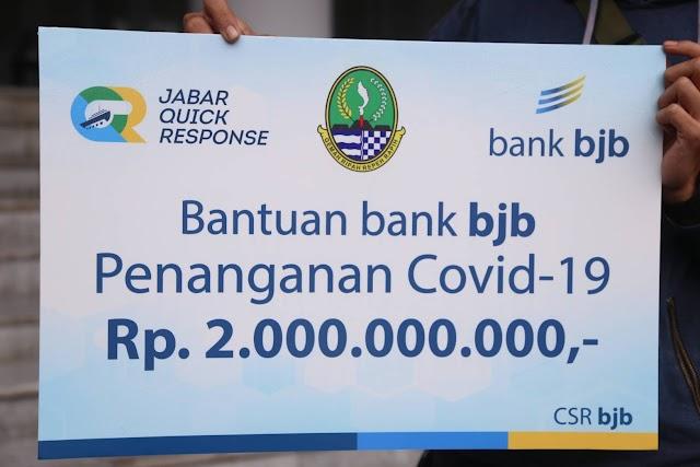 Bersama Melawan Covid-19, Bank bjb Salurkan Bantuan Rp.2 M Melalui Jabar Quick Response