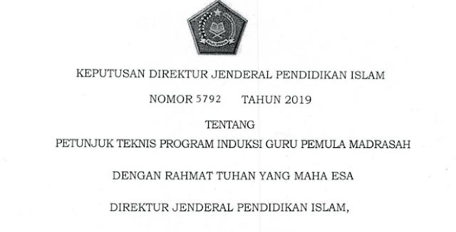 Juknis Program Induksi Guru Pemula Madrasah 2019