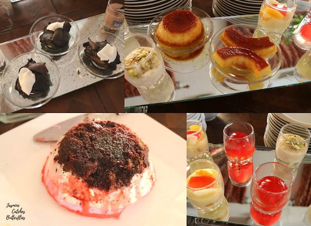 Desserts at Sunday Brunch At Beach Luxury