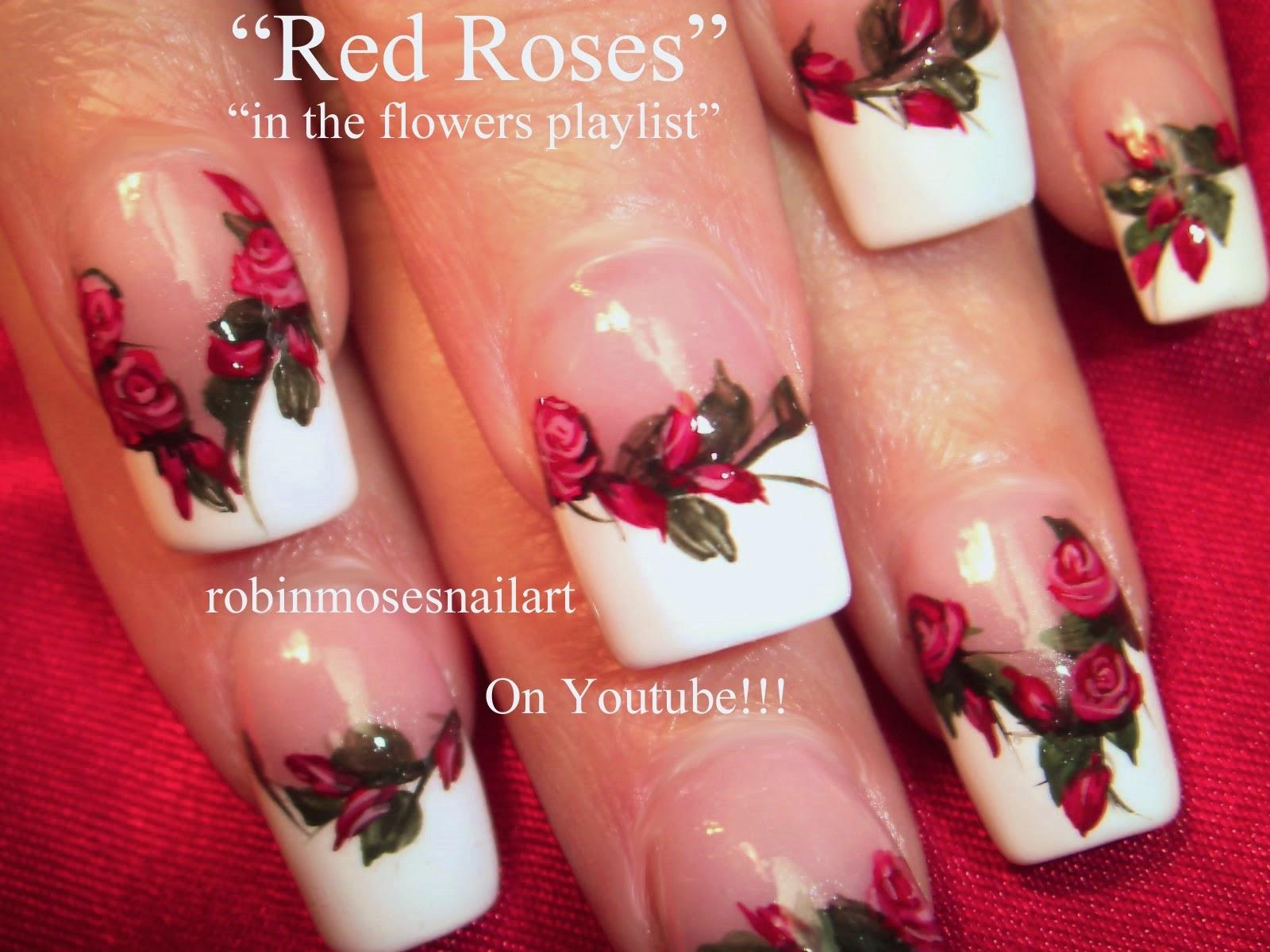 Robin Moses Nail Art Quot Rose Nails Quot Quot Roses Nail Art Quot Quot Dark Flower Nails Quot Quot Red Rose Nails Quot Roses