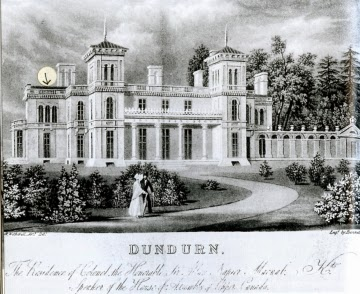 Climbing My Family Tree: Dundurn Castle, Hamilton, Upper Canada as seen in 1835