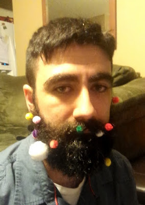 balls stuck in beard