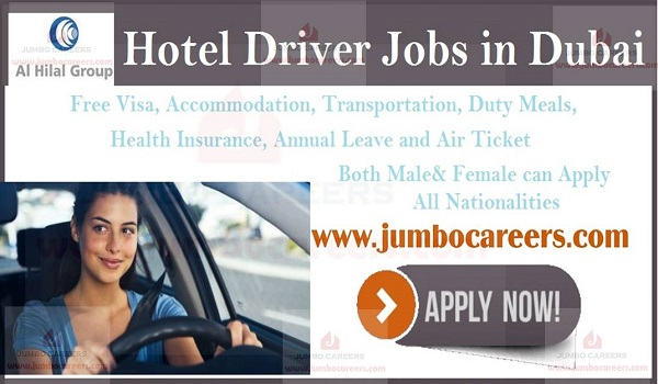 Male and Female Driver Jobs in Dubai Hotel with Free Visa
