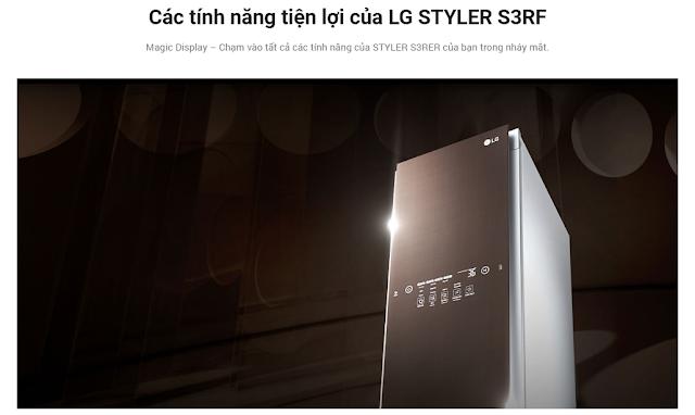 Các tính năng tiện lợi của LG STYLER S3RF