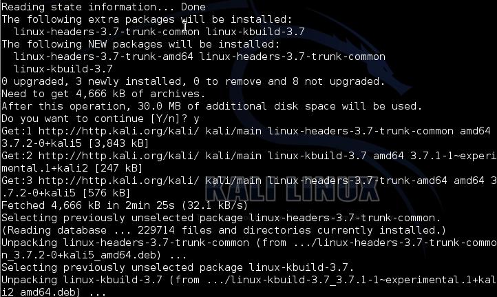 Cara Install Kernel Headers Kali Linux