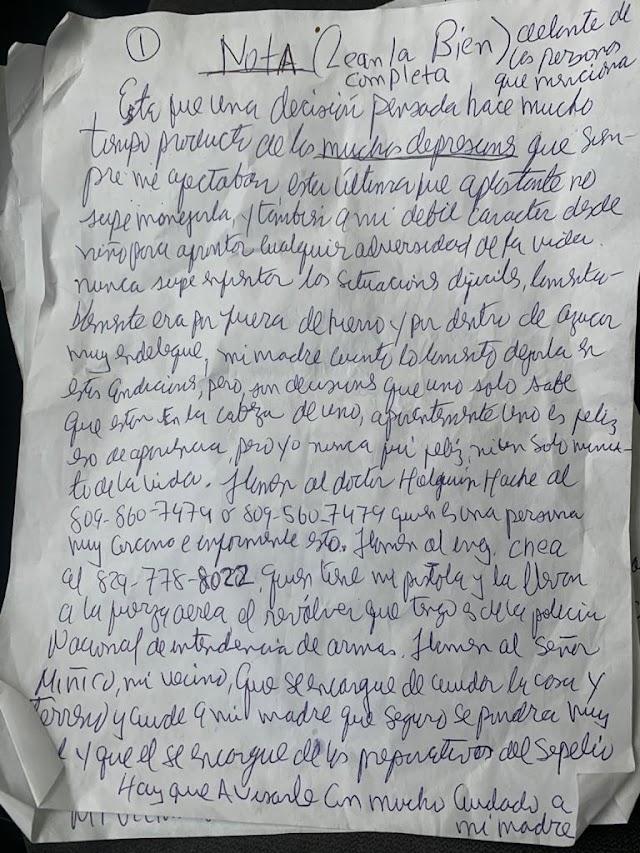 Coronel  Fuerza Aérea dejó carta explicando su suicidio
