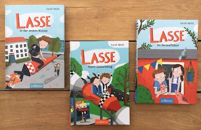 """""""Lasse""""-Kinderbuchreihe von Sarah Welk, illustriert von Anne-Kathrin Behl, ArsEdition, Rezension von Kinderbuchblog Familienbücherei"""