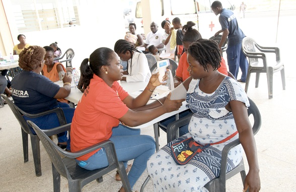 Accra Technical University organises health screening for Menpeasem residents