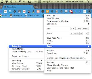 disable extensions remove text enhance bug google chrome