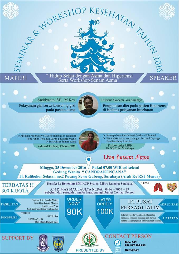Seminar: Hidup Sehat dg Asma & Hipertensi Serta Workshop Senam Asma