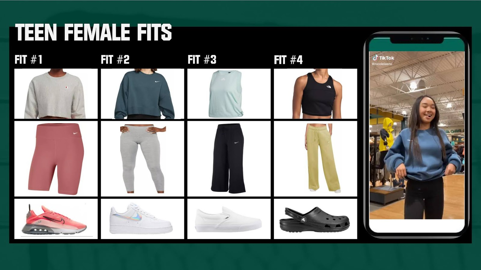 Teen Female Fits from DICK'S Sporting Goods