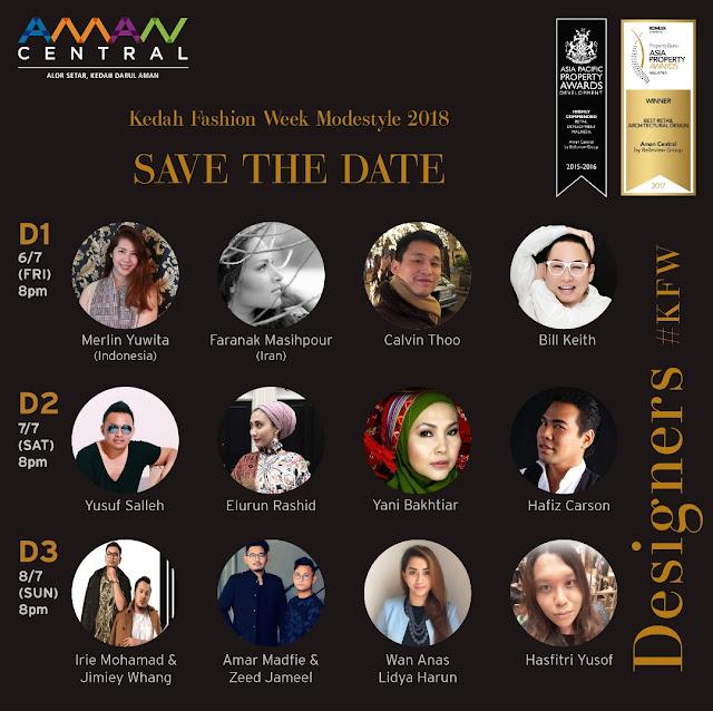 Kedah Fashion Week, kedah fashion week 2018, modestyle, Aman Central, Alor Setar, fashion week, malaysia fashion, malaysia fashion blogger,