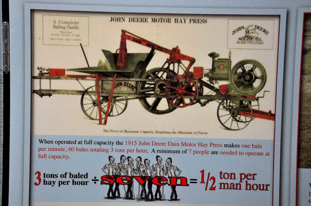 Taken For Granted: 1915 Dain Hay Press Vs  Modern Baler