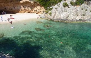 Vromi beach o Porto Vromi, Isla de Zante.