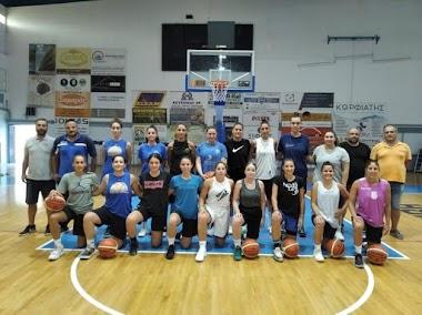 Η πρώτη προπόνηση της γυναικείας ομάδας μπάσκετ της Νίκης Βόλου