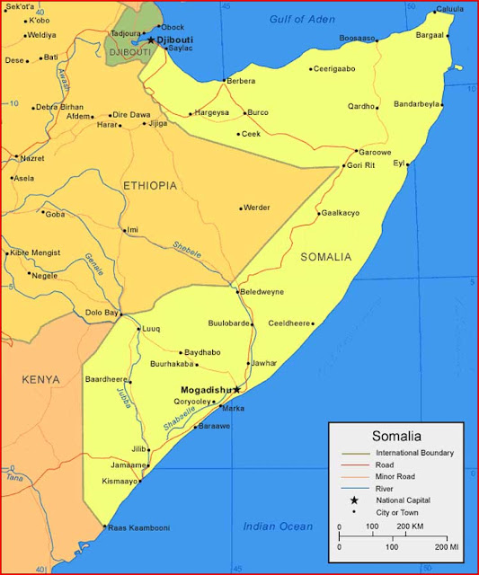 Gambar Peta Somalia