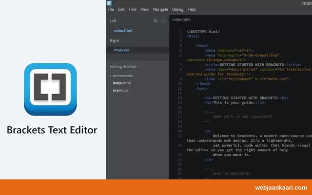 Brackets – Free Text Editor