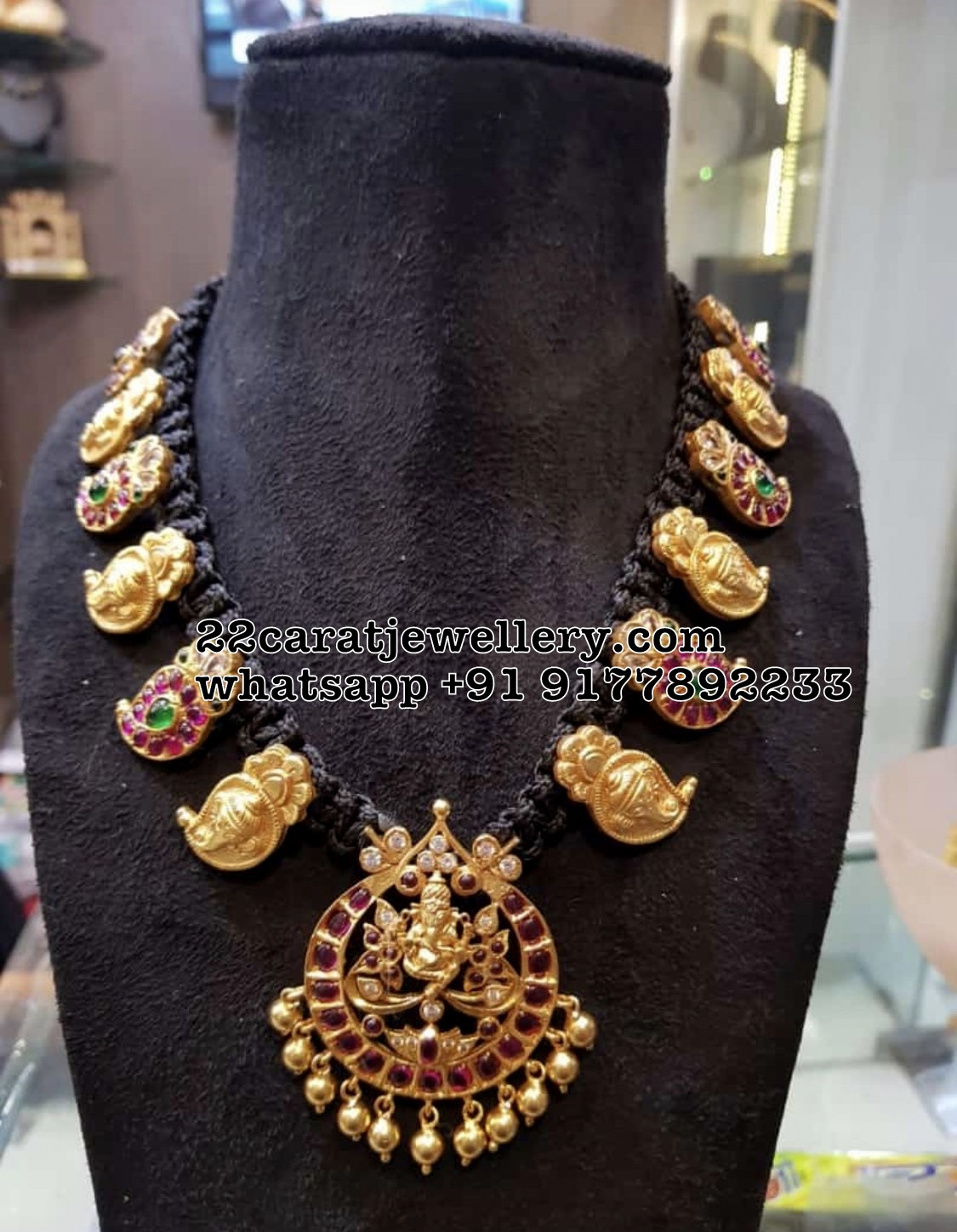 Black Thread Necklace Images