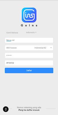 Cara mendaftar aplikasi goins