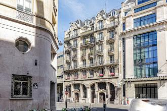 Paris : Syndicat de l'épicerie française, architecture Art Nouveau de l'immeuble situé au 12 rue du Renard, mémoire des lieux et du commerce - IVème