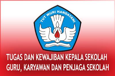 tugas dan tanggung jawab kepala sekolah, guru - guru piket, karyawan dan penjaga sekolah