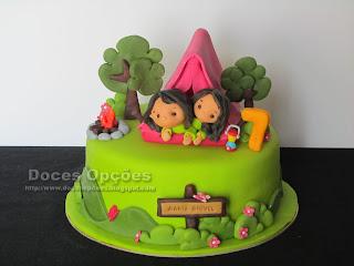 camping cake sugar paste