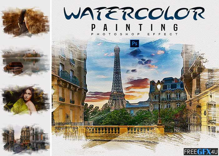 Watercolor Painting - Photoshop Effect