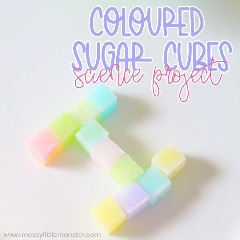 coloured sugar easy science experiment for kids