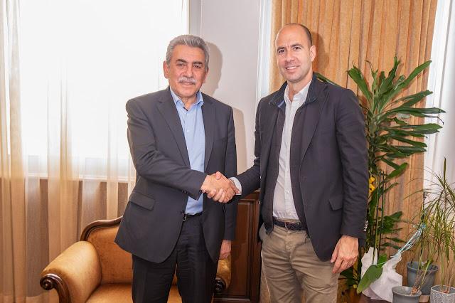 Επίσκεψη του υποψηφίου δημάρχου Νικόλα Κάτσιου στον Πρύτανη του Πανεπιστημίου Ιωαννίνων κ. Τριαντάφυλλο Αλμπάνη