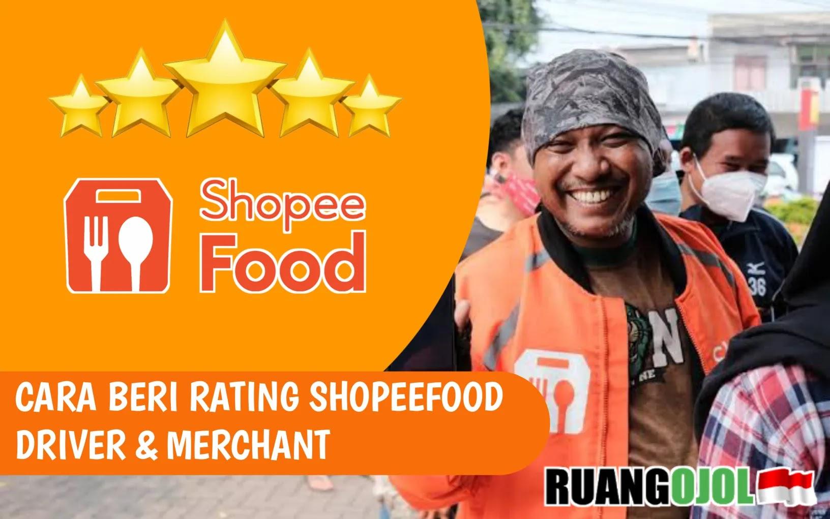 cara beri rating shopee food driver