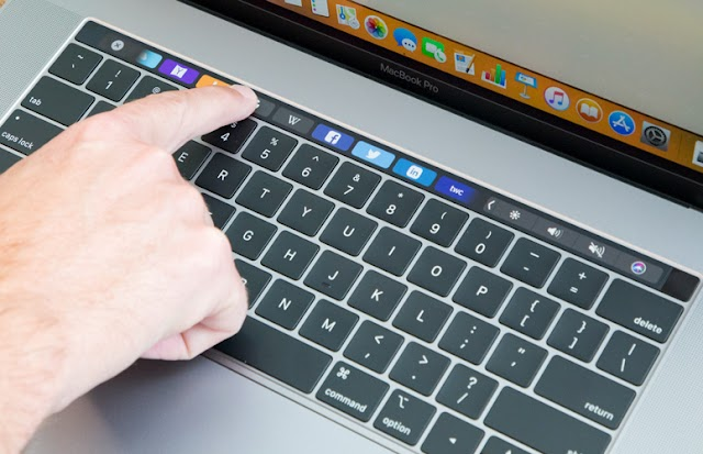 The new MacBook PRO application from APPLE works on the touch bar