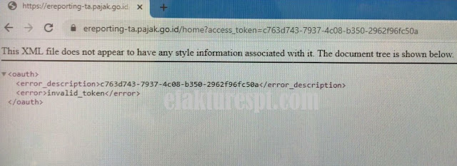 e-Reporting Pajak Error This XML file does not appear to have any style information associated with it